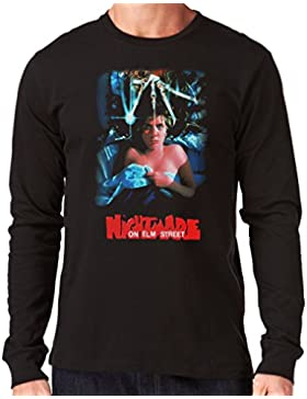 35mm - Camiseta Hombre Manga Larga - A Nightmare On Elm Street - Terror - Long Sleeve Man T-Shirt
