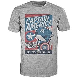 Marvel Funko Pop para Hombre. Camisetas Gorra América Lucha por la Justicia - Multi - X-Small