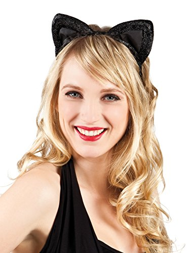 Boland 52336 - Haarreif Katze, aus Samt, Einheitsgröߟe, (Kostüm Katze Halloween)