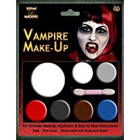 New Witch Ladies Girls Make Up Halloween Makeup Make-Up Face Paint Zombie Vampire Witch Devil Green Red Yellow Black (Vampire)