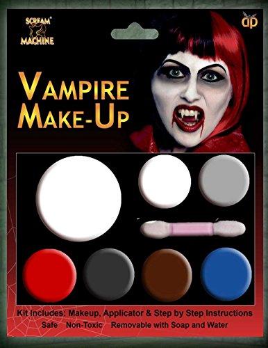 HALLOWEEN MAKE-UP MAKE-UP GESICHTSFARBE ZOMBIE VAMPIR HEXE CLOWN DEVIL FAMILIEN SET ROT WEIß SCHWARZ - Vampir Multi Palette Schminke