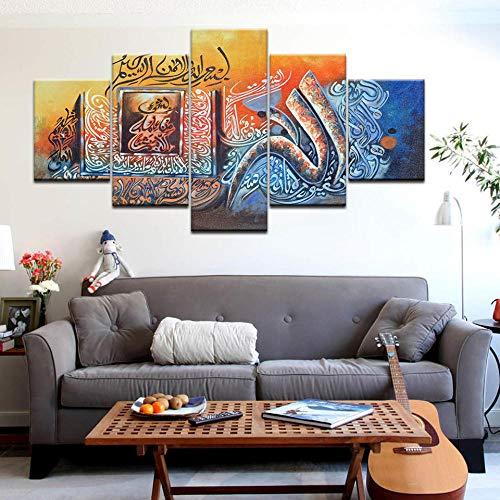 WADPJ Abstrakte Religion Allah Der Koran Bilder Leinwand Islamische Bibel Muslimische Malerei Drucke Wandkunst Poster Wohnkultur-40x60 40x80 40x100cm ohne Rahmen