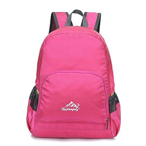 Uomini spalla esterna dello zaino di alpinismo borsa e donne di grande capienza Leisure Travel pieghevole , pink Pink