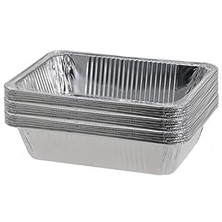 15 Stück Grillschale Aluschale Zubereitungsschale Grilltelller Aluteller 20 x 15
