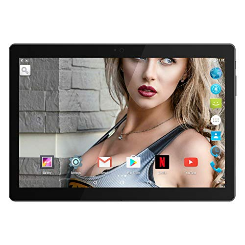 "10.1"" Inch Google Android Tablet,PADGENE Android7.0 Phablet Tablet Quad Core Pad with Dual Camera, 1GB Ram+16GB Disk, Wifi, Bluetooth, 1280x800 HD IPS screen, Google Play"