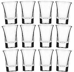 Star-line® 24 Schnapsgläser Glas 4cl Set | Shotgläser Pinnchen | Spühlmaschinenfest | Gläser Für Vodka Tequila & Wodka - Stamper
