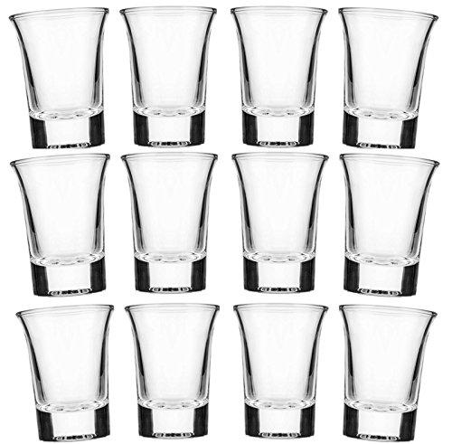24 Schnapsgläser Glas 4cl Set | Shotgläser Pinnchen | Spülmaschinenfest | Gläser für Vodka Tequila / Wodka Stamper