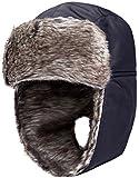 Wantdo Homme Chapeau de Trappeur Coupe-vent Hiver Neige Cavalerie Noir One size