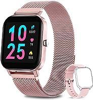 AIMIUVEI Smartwatch Donna, Orologio Fitness Tracker da 1,4 Pollici Smart Watch Bluetooth Contapassi Calorie Ca