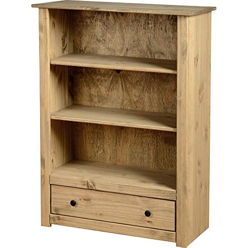 Panama 1 Drawer Bookcase-Oak Wax Finish