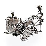 Weltzukaufen Traktor Modell Tin Modell aus Tetal Vintage Tractor Retro-Stil Deko in Schwarz/Kupferfrben 23*8*15cm (Kupfer)