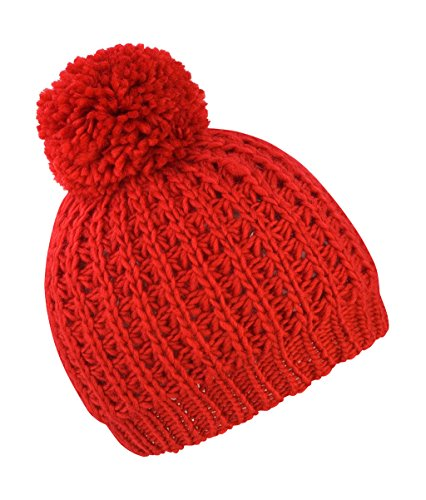 Preisvergleich Produktbild Result Winter Essentials Knitted Flute Pom Pom Hat,  One Size,  Red