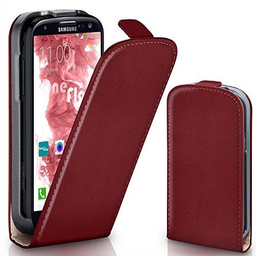 OneFlow PREMIUM - Flip-Case - per Samsung Galaxy S3 / S3 Neo - MAROON-RED