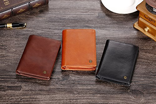 51A3ipVPK0L - Cronus & Rhea® | Luxury wallet with coin pocket made of exclusive leather (Charon) | Wallet - Wallet - Wallet - Money Clip | Real leather | With elegant gift box | Men