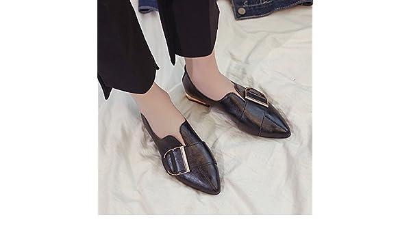 GAOLIM À Basse Pointe Seul Chaussures Femmes Chaussures Sauvages Au Printemps De Cette Lumière-Pois Haricots Mis Les Pieds Confortables Chaussures Chaussures Femmes moZHF79