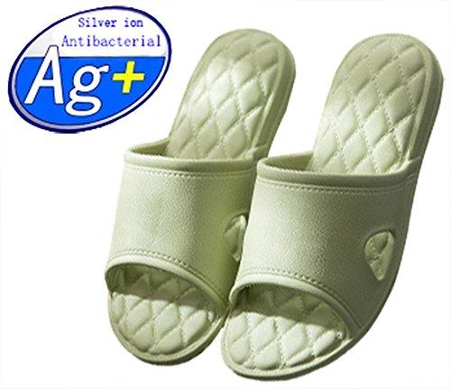 Happy lily pantofole antiscivolo per la doccia, il bagno o la piscina, con suola morbida in schiuma, da donna o da uomo, green-2, uk women 4-5(eur 37-38/ 9.6