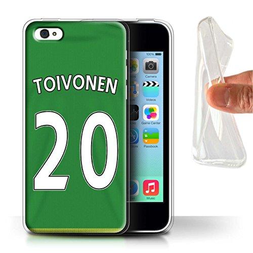 Officiel Sunderland AFC Coque / Etui Gel TPU pour Apple iPhone 5C / Pack 24pcs Design / SAFC Maillot Extérieur 15/16 Collection Toivonen
