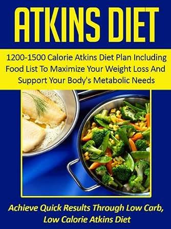 Atkins diet 1200 1500 calorie atkins diet plan including for Atkins quick cuisine