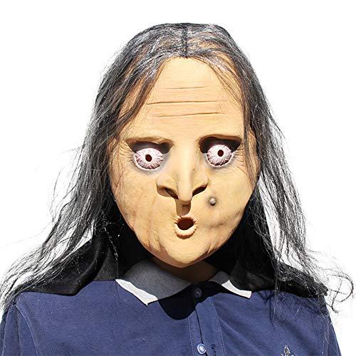 heit Latex Rubber Gruselige Hexe Maske Gesicht Schrecklich Für Halloween Kostüm Party ()