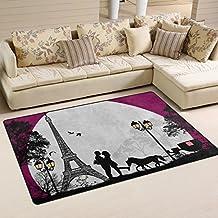 bennigiry antidrapant zone tapis home decor lgant paris tour eiffel tapis de sol salon chambre - Tapis Paris
