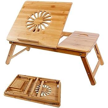 Lifewit tavolino per letto regolabile vassoio per computer portatile da letto ripiano portatile - Tavolino da letto per pc ...