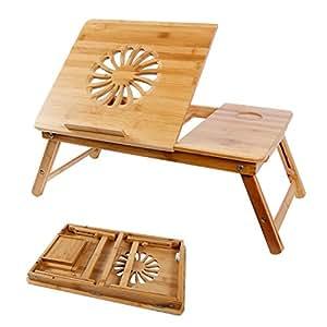 Lifewit tavolino per letto regolabile vassoio per computer portatile da letto ripiano portatile - Vassoio da letto amazon ...