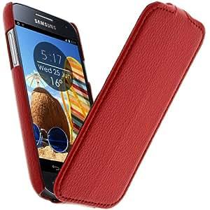 Housse Etui Ultra-fin en Grainé Rouge pour Samsung Galaxy S4 Mini