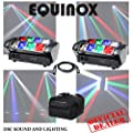 2 X Equinox Onyx Fast Moving 8x 3w Rgbw Led Sweeping Beam Dj Disco Lighting Effect Comes With Transport Bag & Dmx Link Lead