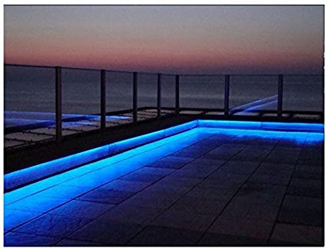 Online-Leds 5M - 16.3ft Landscape Decking Garden Outside Color Changing Led Strip Lighting Flexible LED Light Strip – Indoor/Outdoor Accent Lighting Set – Landscape, Decking, Garden, Kitchen & More – Waterproof Plug & Play Design with Remote and Power Adapter