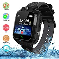 bhdlovely Kids Smart Watch Phone LBS Tracker Waterproof Smart Watches for Kids Alarm SOS Birthday Gift Toys for Boys Girls
