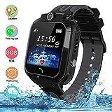 Bambini Impermeabile Smartwatch Touch Screen GPS/LBS Telefono Fotocamera Gioco di chat vocale Orologi intelligenti Regalo Di Compleanno per ragazzi e ragazze (Nero)