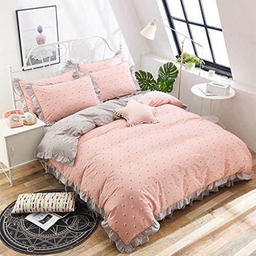 YUY Home Textil rustikal Baumwolle abgerundete Blätter Satz von Vier -