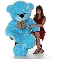 RK Toys Teddy Bear Lovable/Huggable feet Teddy Bear for Girlfriend/Birthday Gift/Boy/Girl (Blue, 2 Feet)