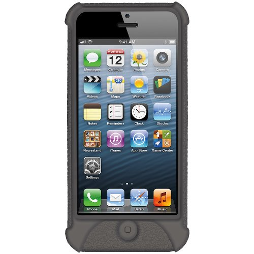 Amzer Silicone Skin Jelly Case for iPhone 5 (Grey)  available at amazon for Rs.319