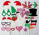 thematys Weihnachten Deko Fotobox - Photo Booth Foto-Requisiten & Foto-Accessoires - für Witzige & unvergessliche Bilder - 28-teilig