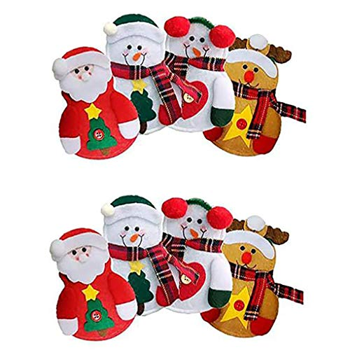 8pcs christmas silverware holders pockets cutlery cover xmas party home table dinner cutters forks bags