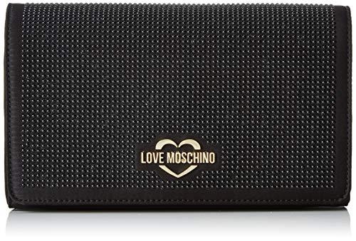 Love Moschino Damen Satin Clutch, Schwarz (Nero), 15x10x15 centimeters