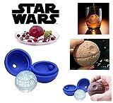 3d Star Wars–Estrella de la muerte Esfera Bandeja de molde de silicona para hacer Cubos de hielo de la bola redonda, bombas de baño Jelly Chocolate, pelotas, en azul