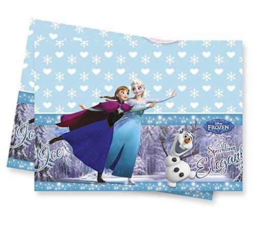 1 Tischdecke * FROZEN ICE SKATING * für Kindergeburtstag oder Motto-Party // Kinder Geburtstag Party Plastic Table Cover Motto Disney Elsa Anna Olaf Schlittschuhe die Eiskönigin