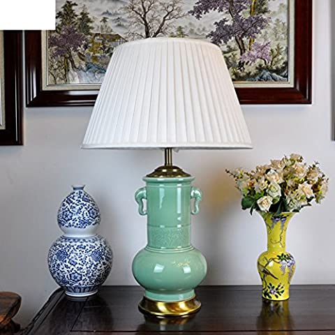 Chinesische Lampen/Ming- Und Qing-dynastie Klassische Skulptur Keramik Tischleuchte/Luxus Wohnzimmer Schlafzimmer Nachttischlampe-A
