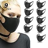 Masque Anti Pollution Virus Réutilisable(9 pcs), Masques Respirants Lavables pour Anti Pollution, Virus, poussiere,l'extérieur Noir Protection pour Sante.