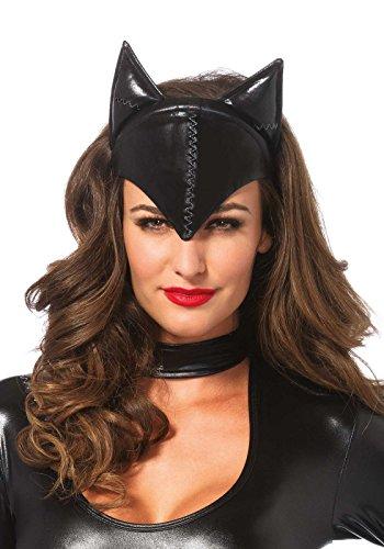 LEG AVENUE A1048 - Feline Femme Fatale Mask, Einheitsgröße (Schwarz)