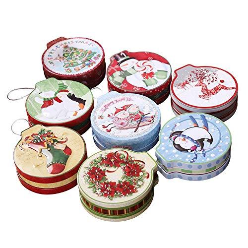 iBaste Süßigkeiten Box Süßigkeiten Runde Cookie Jar Candy Aufbewahrungsbox Kinder Geschenk für Weihnachtsbaum Dekoration - Jar Candy Süßigkeiten