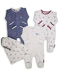 The Essential One - Baby Mädchen Schlafanzuge/Schlafanzug/Einteiler/ Strampler (3-er Pack mit Beutel) - ESS114