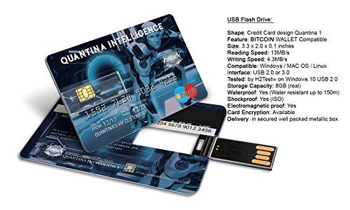 Édition limitée–8Go carte de crédit lecteur flash memory stick par Quantina–Bitcoin–Compatible avec Forex indicateurs et Robots Demo Indicators + Demo Robots