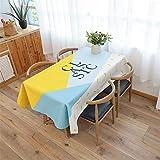 NQING Coton Nappe Imperméable Épaississement Maison Simple Cuisine Table Cloth Décoration De Noël Nappe Un 140x230cm / 55x90In