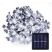LE 5M 50 LEDs Catene luminose a LED, Pannello Solare 1.2V Bianco Diurno