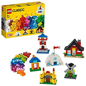 LEGO Classic - Ladrillos y Casas, Juguete de Construcción con Ladrillos de Colores para Desarrollar la Creatividad, Recomendado a Partir de 4 Años (11008)