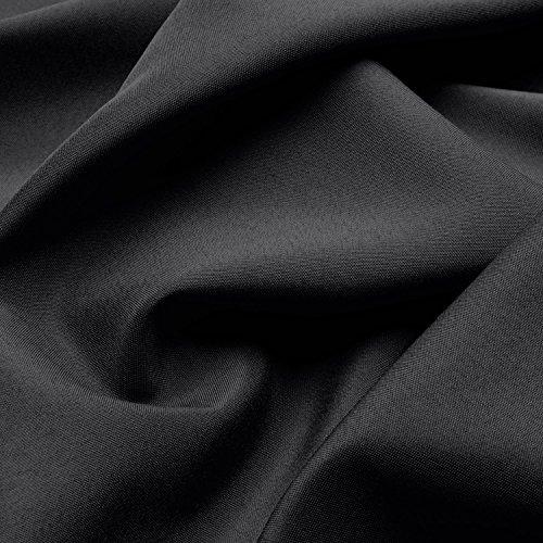 Beautissu Blickdichter Kräuselband-Vorhang Amelie – 140×245 cm Schwarz – Dekorative Gardine Universalband Fenster-Schal - 3