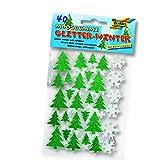 NEU Moosgummi-Glitter-Sticker Winter. 40 Stück